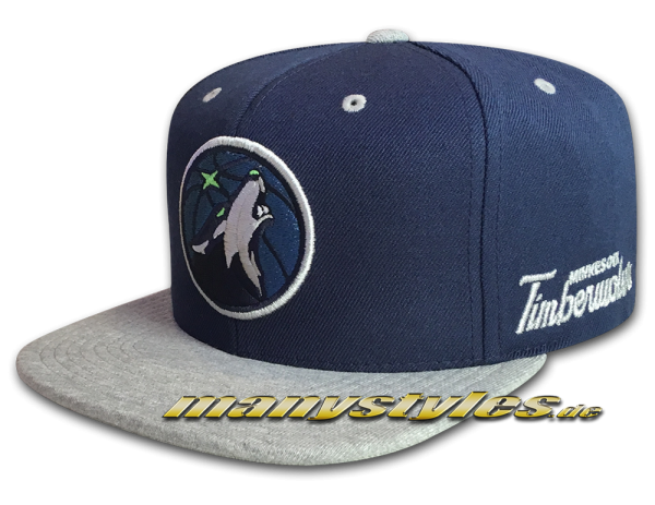 Minnesota Timberwolves NBA Navy Jersey Heather Snapback Cap Team Color von Michell and Ness