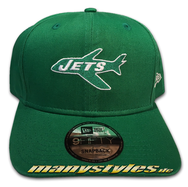NEW ERA NY New York Jets NFL Historic 9FIFTY Cooperstown Classic Snapback Cap Green White OTC Original Team Color