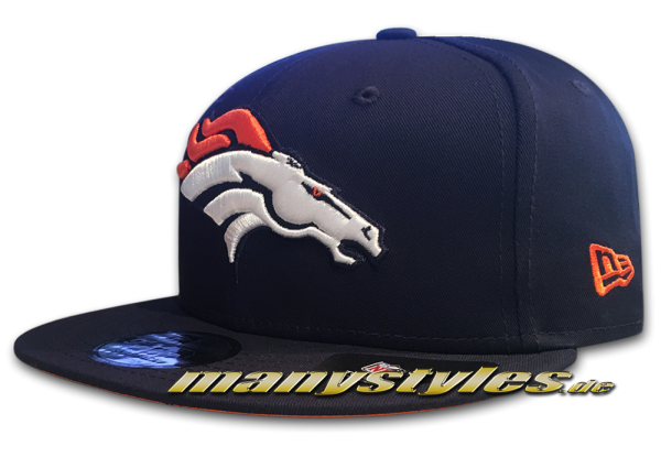 Denver Broncos 9FIFTY NFL Team Classic Snap Snapback Cap OTC Original Team Color von New Era