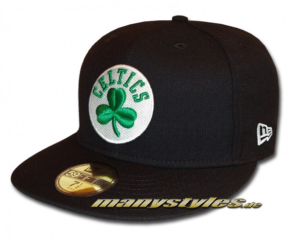 Boston Celtics 59FIFTY NBA Basic Reverse Cap Black White Green OTC celticsgrün Original Team Color von New Era
