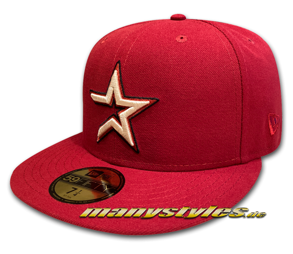 Houston Astros MLB 59FIFTY Anniversary Classic Logo World Series Cap H Red Chrome Khaki von New Era