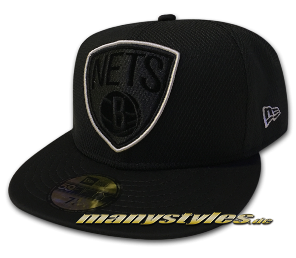 Brooklyn Nets 59FIFTY NBA Diamond Prene Cap Black OTC