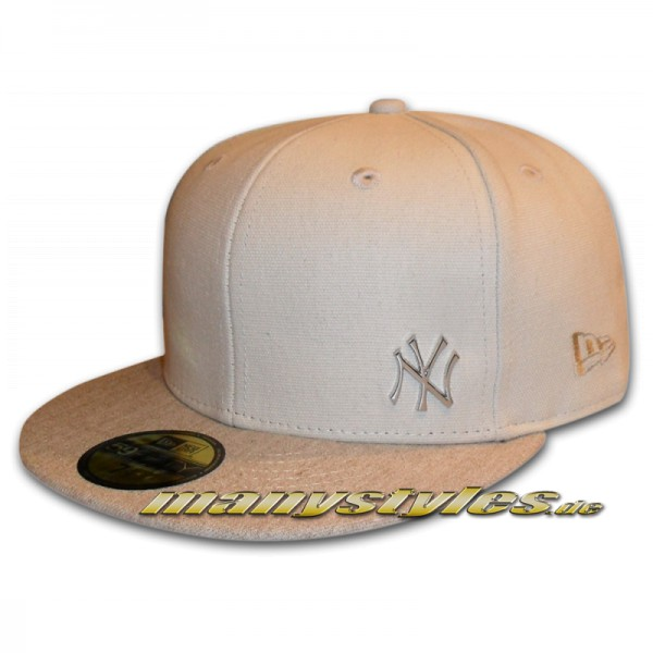 NY Yankees 59FIFTY MLB Flawless Metall Cap Stone Silver