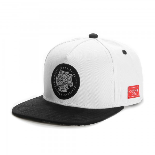 Cayler & Sons Snapback Cap Money Power White Black