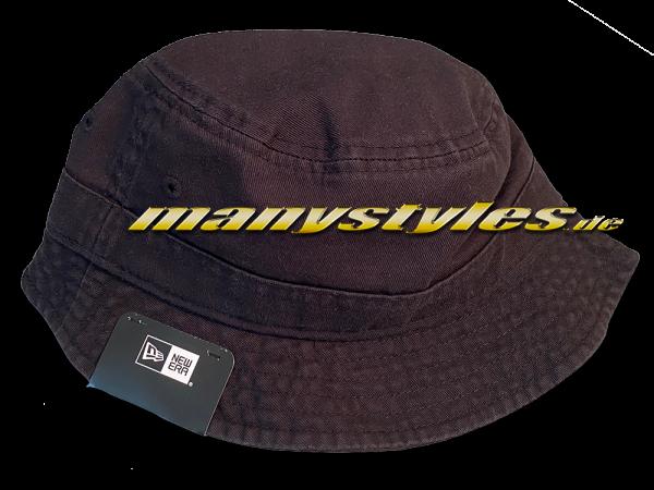 NE Essentials Blank Bucket Fishermans Hat Vintage Black