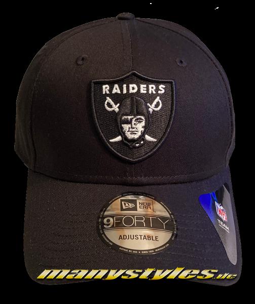 Las Vegas Raiders Oakland Raiders (Los Angeles) NFL 9FORTY Black Base Snapback Cap Black OTC von New Era