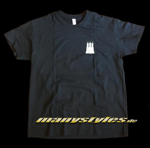 HH Hamburg exclusive T-Shirt Hammaburg Black White Front