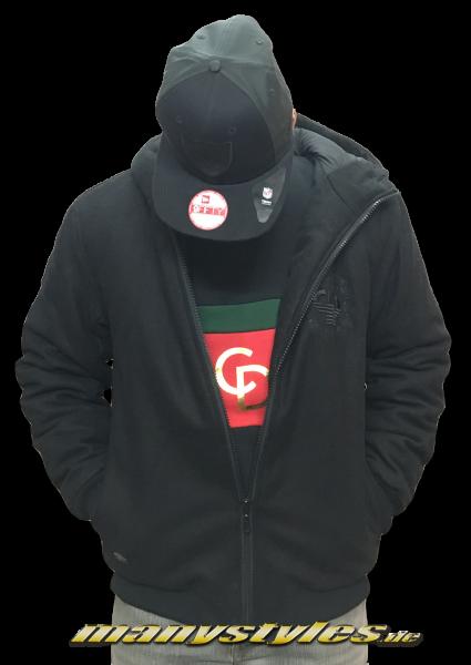 Pelle Pelle Anniversary Hooded Jacket Black on Black: Back