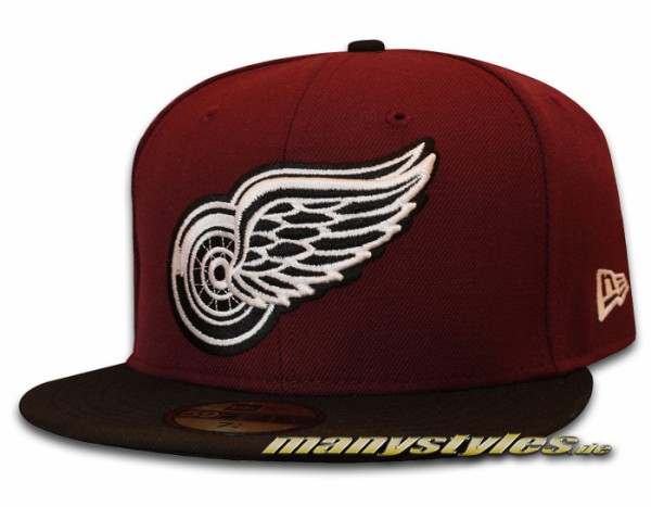 Detroit Red Wings 59FIFTY NHL Basic Cap Maroon Black exclusive