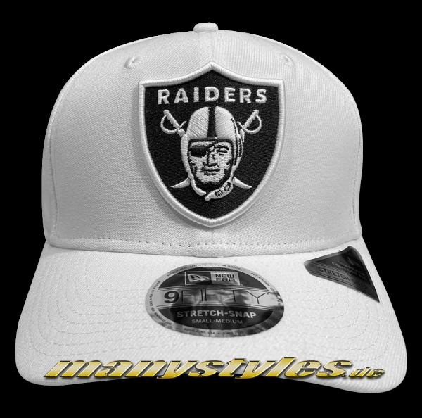 Oakland Raiders (Las Vegas Raiders) NFL 9FIFTY Team Stretch 950 SS Stretch Snapback Cap White Base Black OTC von New Era