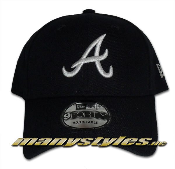 Atlanta Braves 9Forty MLB The League Essentials Curved Visor Adjustable Cap