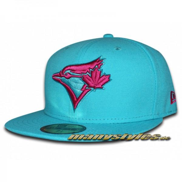 Toronto BLUE JAYS 59FIFTY MLB Seasonal Contrast Basic Cap Vice Blue Grape