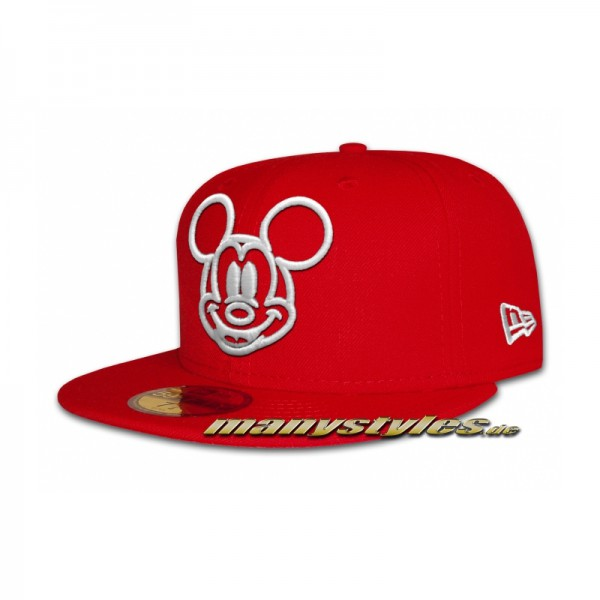 Disney Licensed 59FIFTY Mickey Mouse Basic exclusive Cap Scarlet Red White