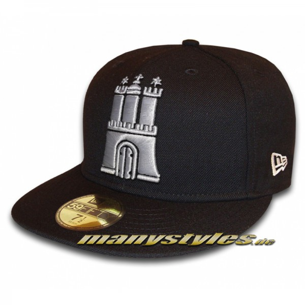 manystyles The Roots Hamburg Caps Hammaburg Crown exclusive 59FIFTY Fitted Cap Black White