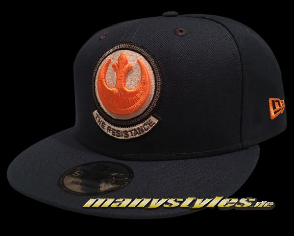 Star Wars Disney Licensed 9FIFTY Snapback Cap Rebel Resistance Ocean Blue Orange White von New Era