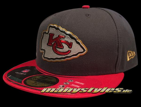 Kansas City Chiefs 59FIFTY NFL Gold Collectionon field Cap von New Era