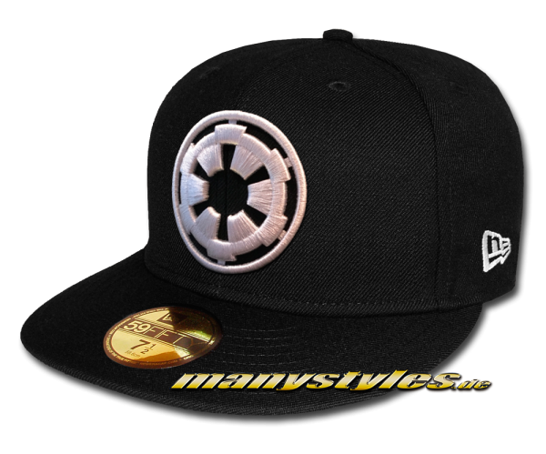 Star Wars Licensed Disney 59FIFTY Fitted exclusive Empire Cap The Death Star Engineering Imperial 1st Order Black White von New Era Front