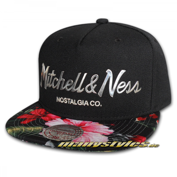 Mitchell and Ness Nostalgia co Snapback CapTropical Visor Sonic Floral Flowers
