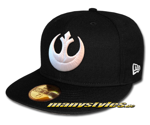 Star Wars Disney Licensed 59FIFTY fitted Cap Rebel Resistance Remember Alderan Black White von New Era Front