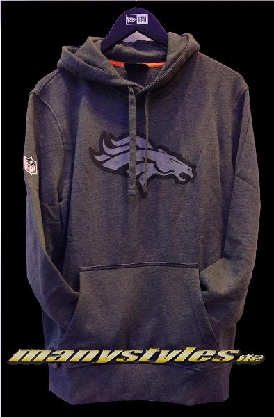 Denver Broncos NFL Two Tone Hoody Charcoal Heather Graphite Grey von New Era