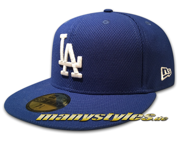 LA Dodgers MLB 59FIFTY Diamond Era League Essential Cap Light Royal White OTC von New Era
