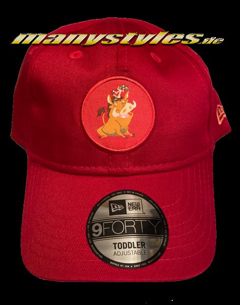 Disney Timon und Pumba 9Forty Kids Toddler Cap Scarlet Red von New Era