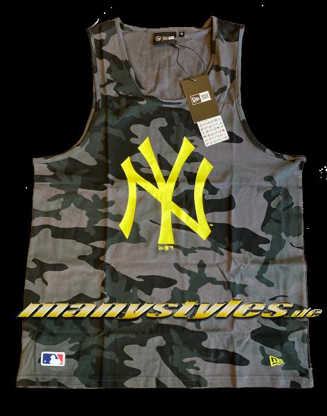 NY Yankees MLB Neon Camo Tank Top Shirt Graphite Dark Woodland Camouflage Neon CyberYellow von New Era