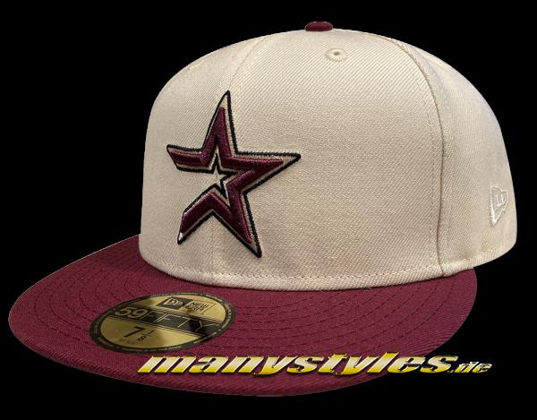 Houston Astros MLB 59FIFTY 45 Years Anniversary Chrome Classic Logo Cap Chrome Purple von New Era Front