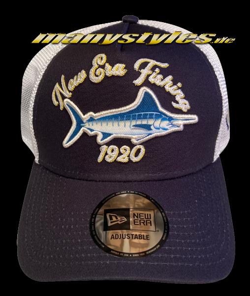 New Era Mountain Fishing 9FORTY Trucker Snapback Cap Navy White AFrame Curved von New Era
