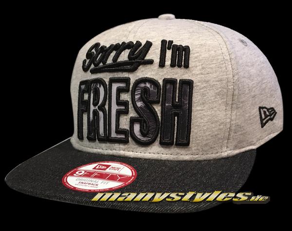 sorry I am Fresh Infill 9FIFTY Original Fit SnapbackCap Jersey Denim von New Era