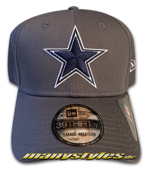 Dallas Cowboys 39THIRTY Curved Visor NFL Team Cap Graphite Grey OTC von New Era