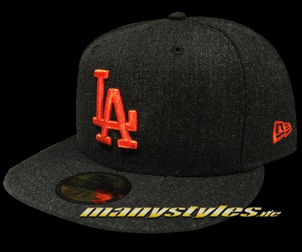 LA Dodgers MLB 59FIFTY Fitted Cap Black Base Black Orange von New Era