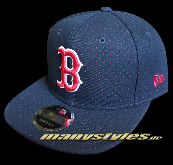 Boston Red Sox 9FIFTY OF Snapback Cap Color Peek Original Fit Snapback Cap Navy Red White OTC von New Era
