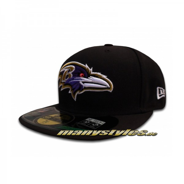 Baltimore Ravens 59FIFTY NFL official Game on field Cap Black
