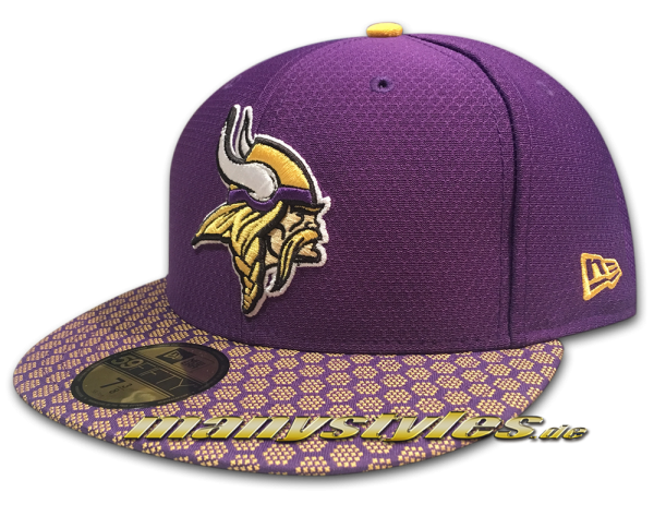 Minessota Vikings 59FIFTY NFL Sideline 2017 On Field Cap