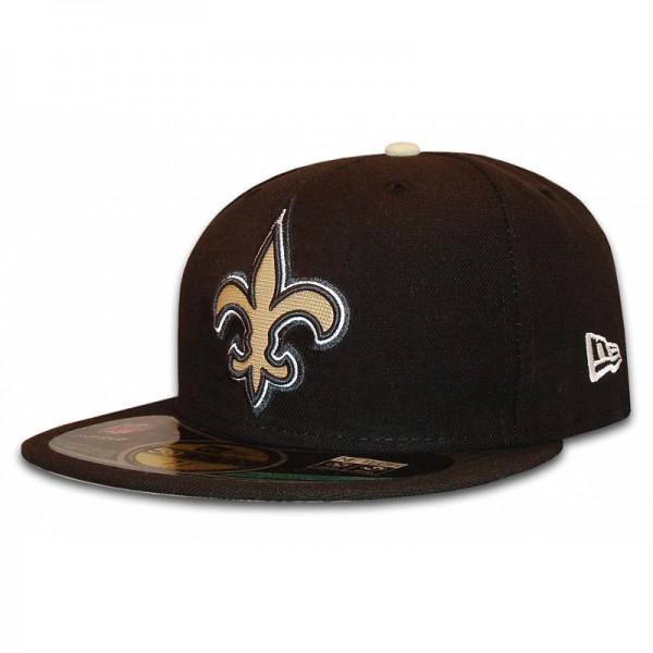 New Orleans Saints 59Fifty NFL Authentic Cap Black Team