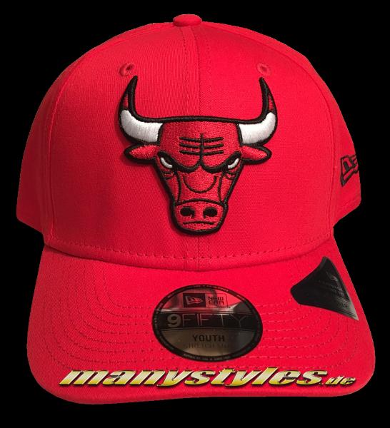 Chicago Bulls NBA 9FIFTY Team Stretch Snap Cap KTD 950 SS Stretch Snapback Scarlet Red Black White OTC von New Era