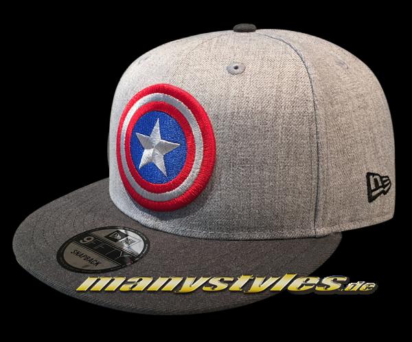 Marvel Comics Captain America 9FIFTY Snapback Cap Heather Grey