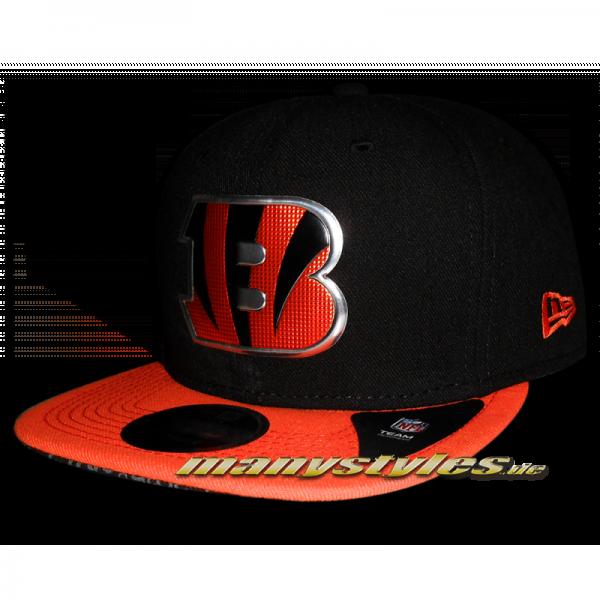 Cincinatti Bengals NFl Sideline 9fifty Snapback Black Team Color liquid logo von New Era