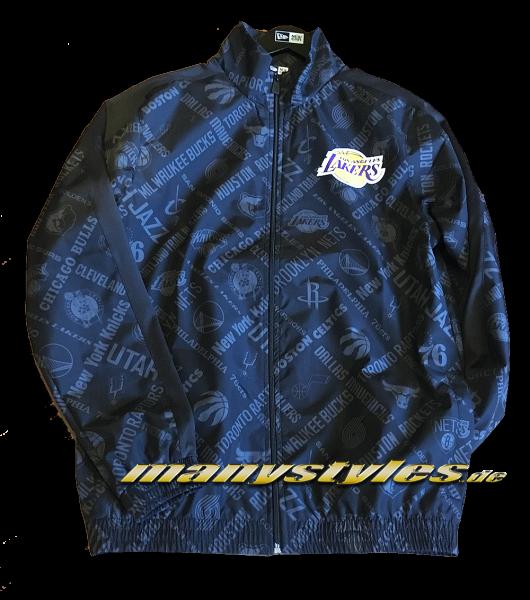 LA Lakers NBA AOP All Team Track Jacket Back Graphite Grey von New Era