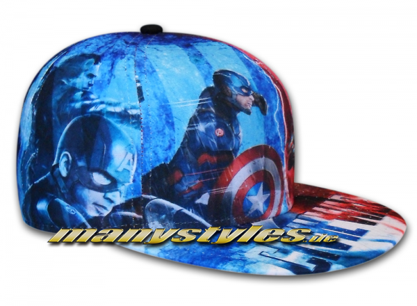 New Era Marvel Comic Art Cap Cpt America Captain America Civil War 59FIFTY All Over Sketches Multi Color Caps