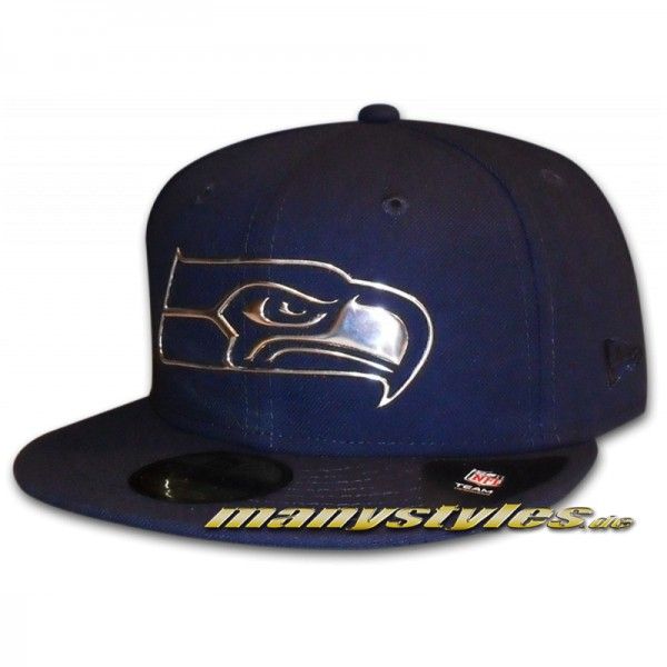 Seattle Seahawks 59FIFTY NFL NE Remix Liquid Cap