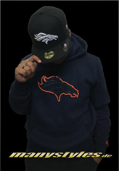Denver Broncos NFL Fan Pack Hoody Hooded Sweatshirt Navy OTC von New Era