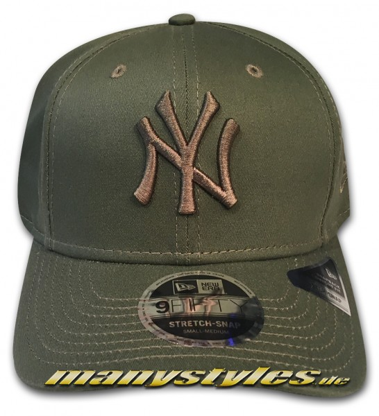 NY Yankees MLB 9FIFTY Tonal Stretch Snapback Cap 950 SS StretchSnapback nov olive von New Era snapbackverschlussblack