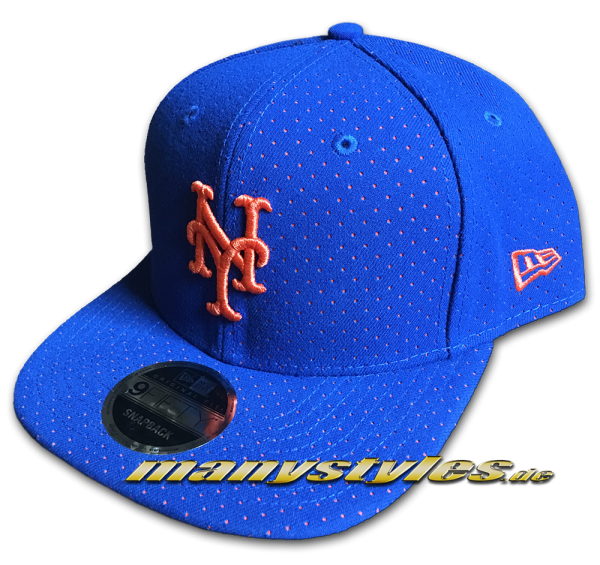 NY Mets 9FIFTY OF Snapback Cap Color Peek Original Fit Snapback Cap Royal Orange OTC von New Era