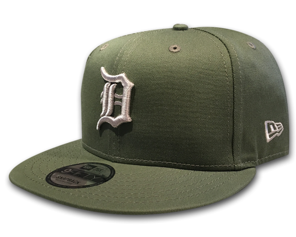 Detroit Tigers MLB 9FIFTY League Essential Snapback Cap Olive Tonal von New Era