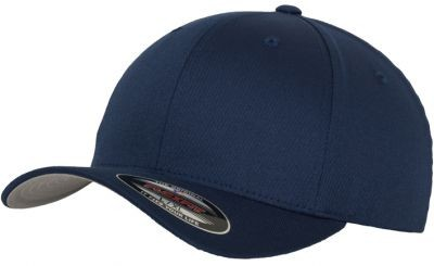 Blank Flex Fit Curved Visor Cap Navy