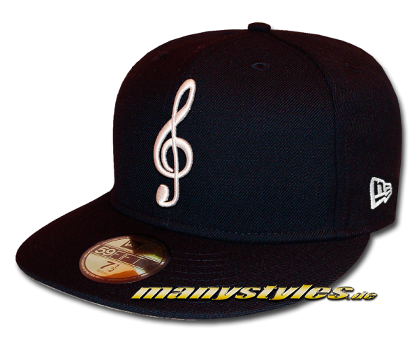 New Era 59FIFTY Unlicensed The Music Note exclusive Cap in Navy White Pic