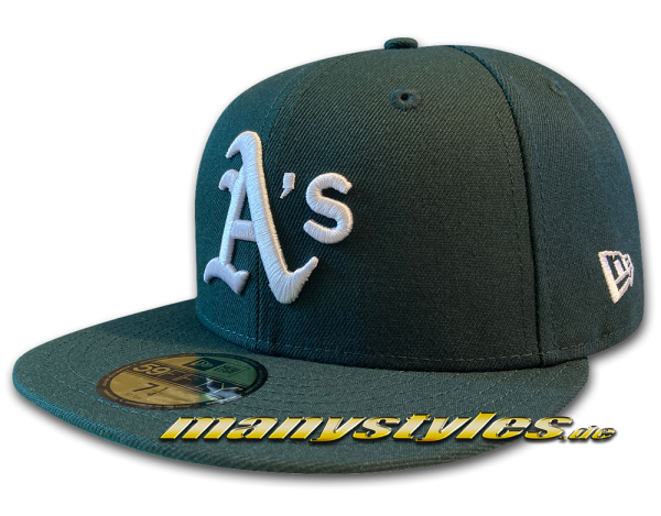 Oakland Athletics 59FIFTY MLB Authentic Retro Sports 1989 Cap Team Structure Cap Road 59FIFTY von New Era