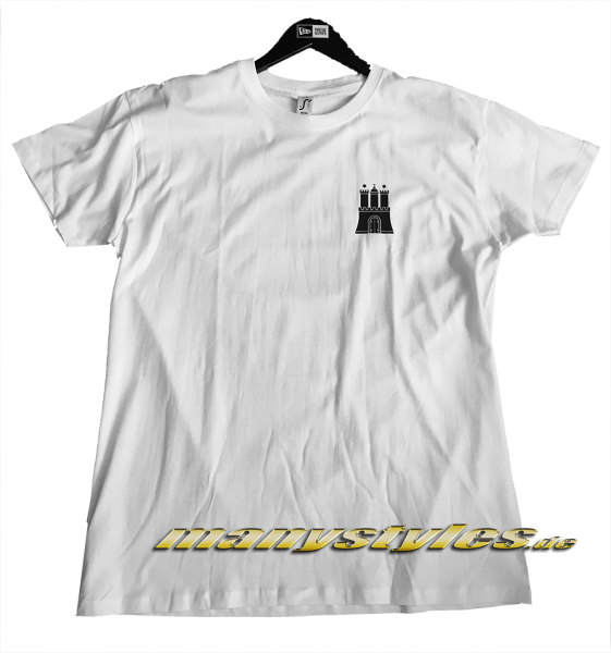 manystyles HH Hamburg exclusive T-Shirt Hammaburg White Black